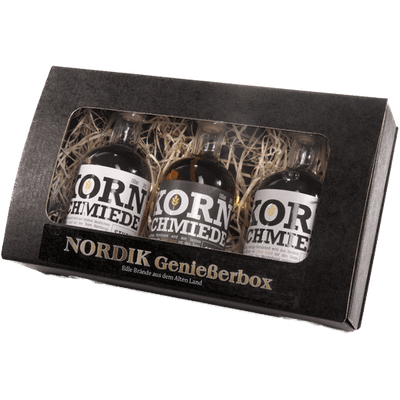 Kornschmiede Probierbox (2x Korn + 1x Fassgelagerter Korn) 2