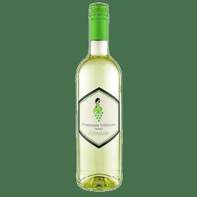 Prinzessin Weinchen trinkt Scheurebe - Weißwein