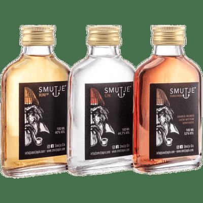 Smutje's Kombüsen Tasting Set (1x Rum XO + 1x Gin + 1x Donkeyman Likör)